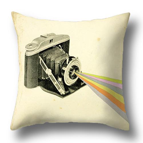 創意相機圖案抱枕套(蛇腹相機/光束)