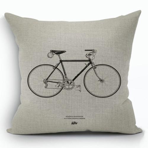 創意相機圖案抱枕套(腳踏車)