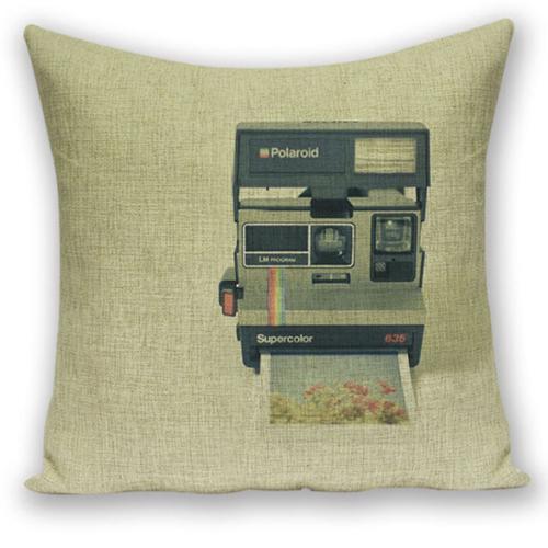 創意相機圖案抱枕套(Polaroid)