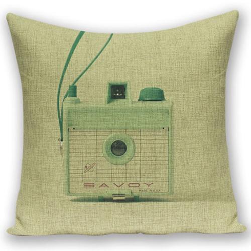 創意相機圖案抱枕套(SAVOY古董相機)
