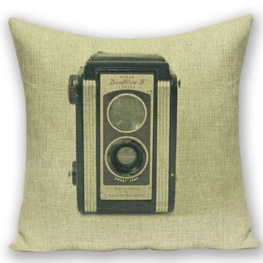 創意相機圖案抱枕套(KODAK古董相機)