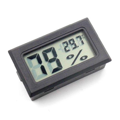 嵌入式數位溫濕度計(黑色)