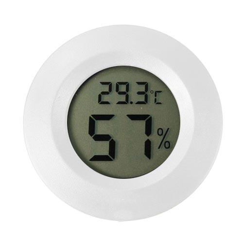 圓形嵌入式數位溫濕度計(白色)
