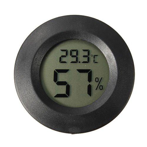 圓形嵌入式數位溫濕度計(黑色)