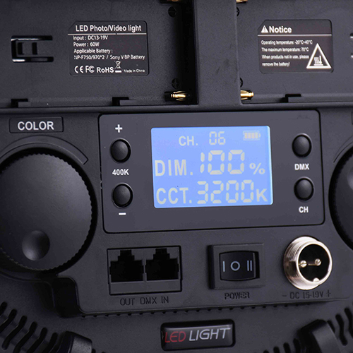 KEYSTONE RS60B 圓形平板雙色溫柔光燈(60W)