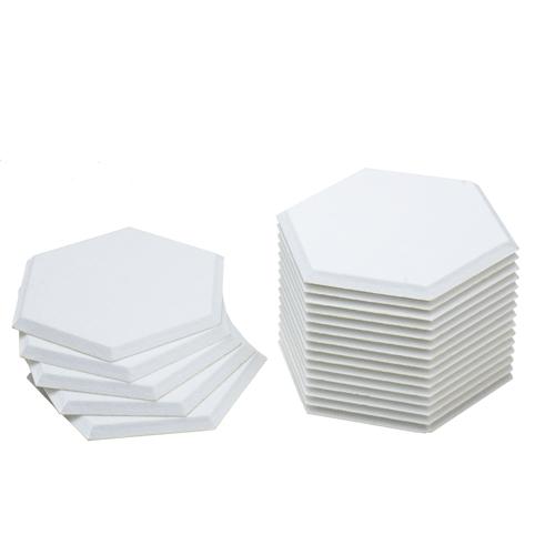 KEYSTONE 六角形聲學纖維吸音板20片裝-雪白