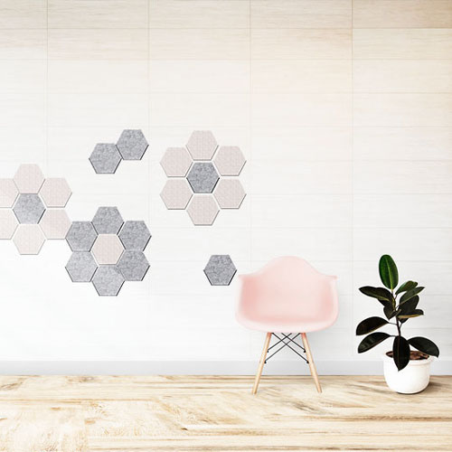 KEYSTONE 六角形聲學纖維吸音板20片裝-果綠