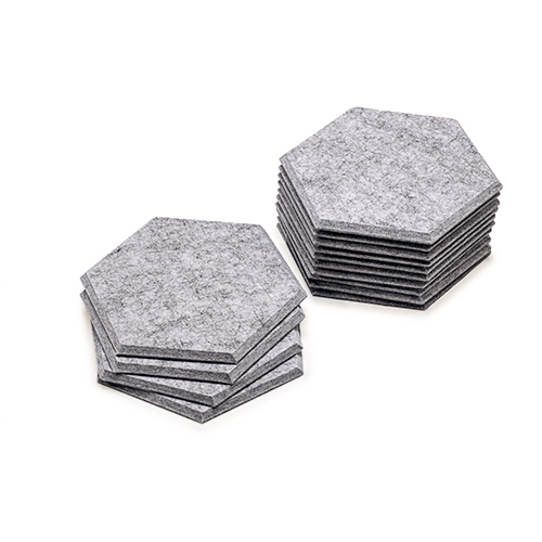 KEYSTONE 六角形聲學纖維吸音板20片裝-銀灰