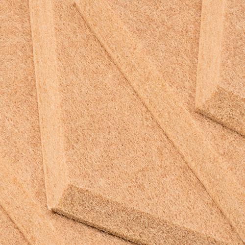 KEYSTONE 六角形聲學纖維吸音板20片裝-桂黃