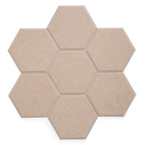 KEYSTONE 六角形聲學纖維吸音板20片裝-深駝