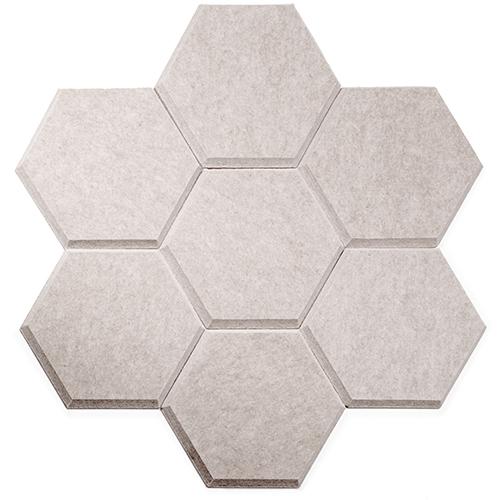 KEYSTONE 六角形聲學纖維吸音板20片裝-淺駝