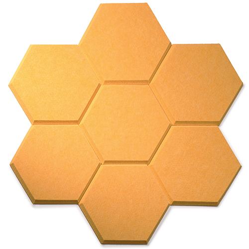 KEYSTONE 六角形聲學纖維吸音板20片裝-橙黃
