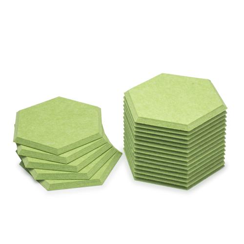 KEYSTONE 六角形聲學纖維吸音板20片裝-翠綠