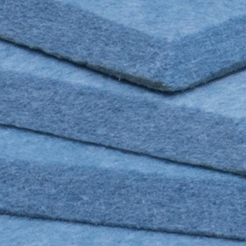 KEYSTONE 六角形聲學纖維吸音板20片裝-天藍