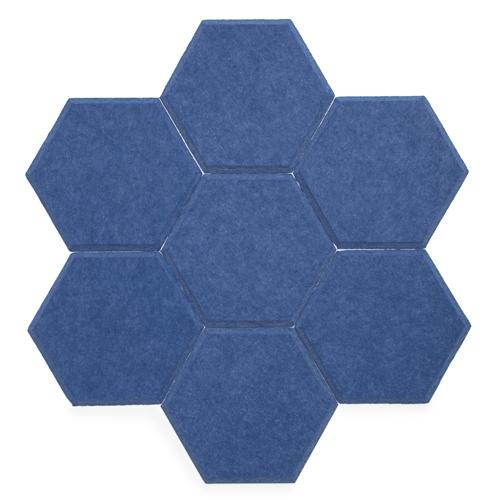 KEYSTONE 六角形聲學纖維吸音板20片裝-寶藍