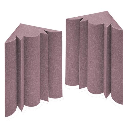 KEYSTONE 阻燃低頻陷阱吸音泡棉30*30*50cm(2入裝-紫)