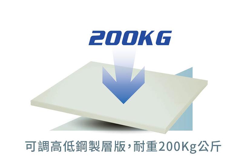 AXH-1280 附可調高低耐重鋼製層板