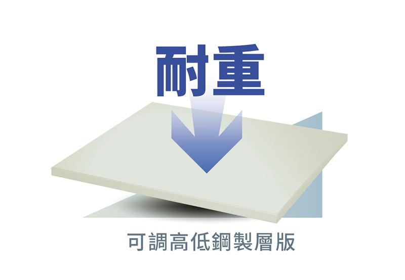 AXH-350 附可調高低耐重鋼製層板